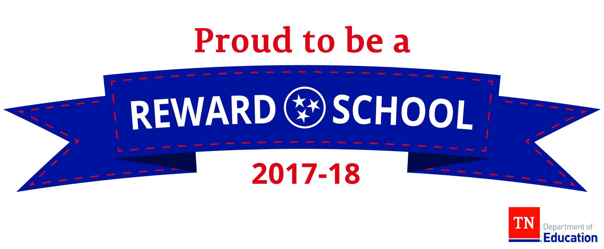 Proud to be a reward school 2017 - 2018